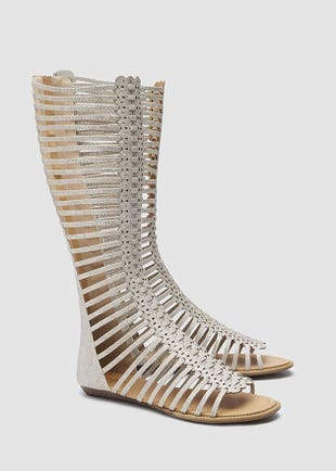 Zip Up Gladiator Boots