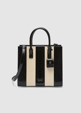 Striped Hand Bag