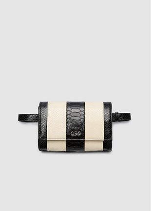 Striped Belt Bag