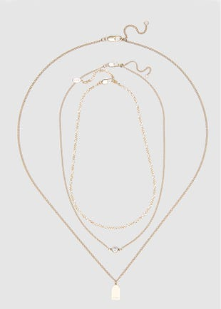 3-Strand Gold Necklace-gold