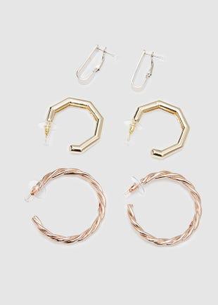 Multi hoop earring set-multi colour