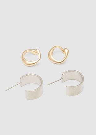 Ear Cuffs set - Silver and Gold-multi colour