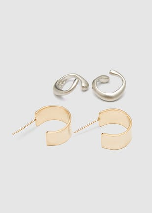 Ear Cuffs set - Gold and Silver-multi colour