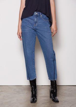 Regular Wash Mom Jeans