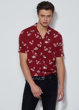 Falling Leaves Resort Shirt