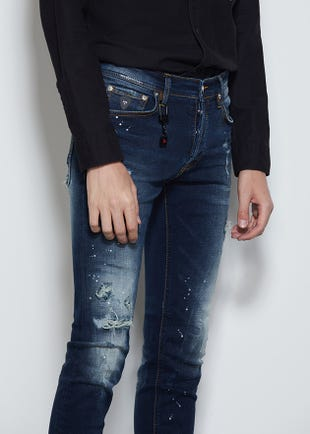 Distressed Super Skinny Jeans