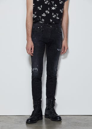 Distressed Black Skinny Jeans
