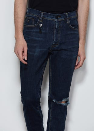 Dark Wash Tapered Jeans