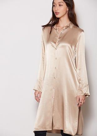 Oriental Shirt Dress