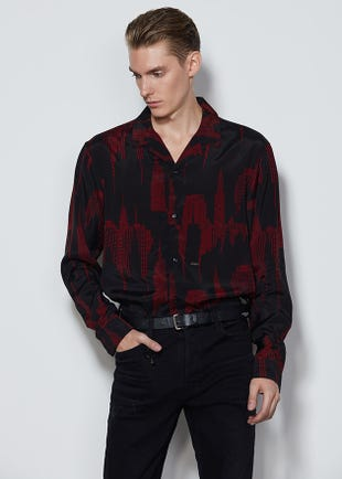 Graphic Button Up Shirt