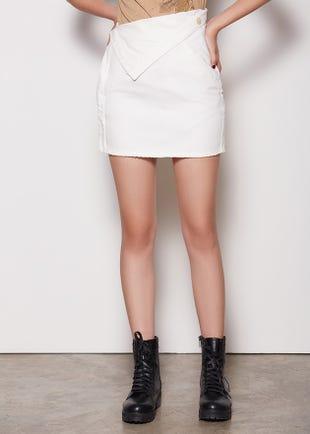 Flipped Waist Mini Skirt