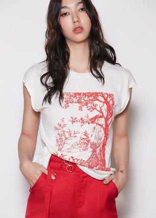 Oriental Garden Print Tee