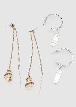 Seashells earring set-gold