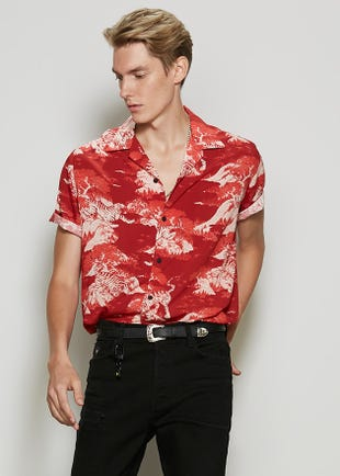 Oriental Scene Resort Shirt