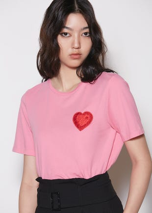 Embroidered Heart Tee