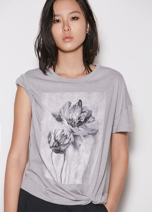 Twisted Floral Tee