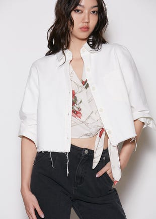 White Denim Shirt