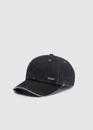 Black Acid Wash Cap