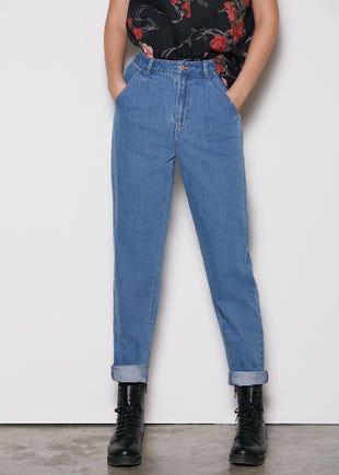Tapered Denim Jeans