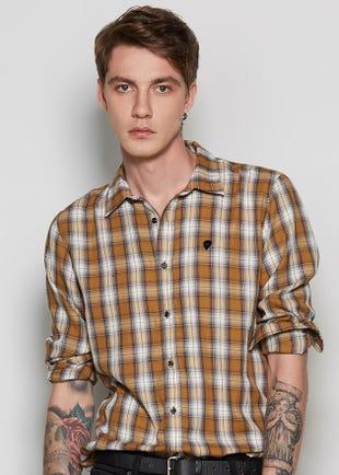 Brown Plaid Shirt