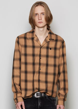 Brown Wide Check Shirt