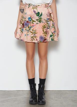 Tropical Tie Waist Skirt