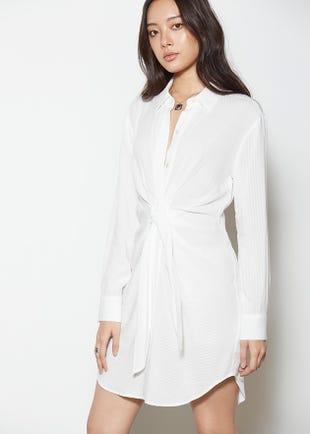Knot Front Shirt Dress