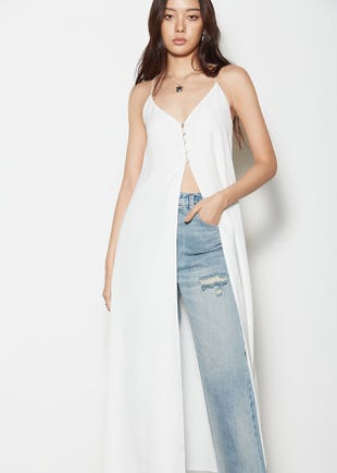 Open Front Camisole Dress