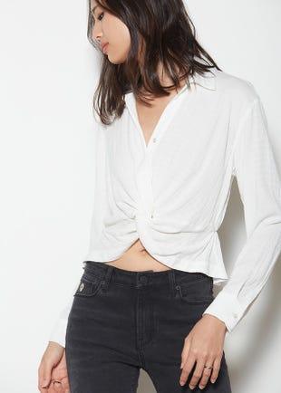 Twist Front Shirt Women