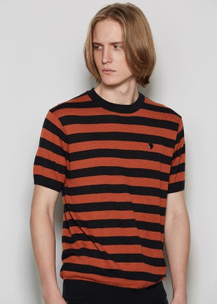 Men Striped Knit Tee