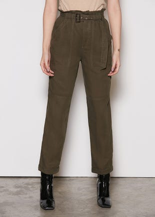 Paperbag Waist Ankle Trousers