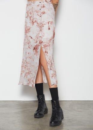 Side Slit Midi Skirt