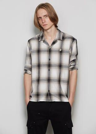 Plaid Resort Collar Shirt