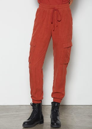 Rope Belt Cargo Joggers
