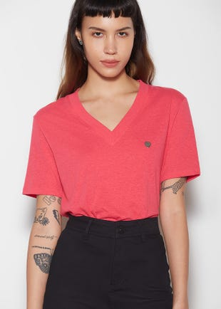 Deep V-Neck T-Shirt