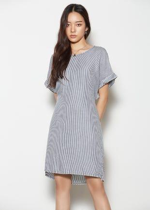 Striped Tie Back Dress