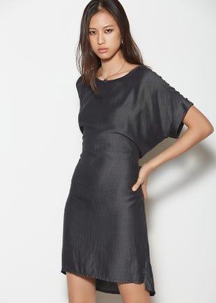 Black Tie Back Dress