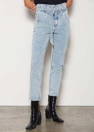 Belted Slim Fit Jeans
