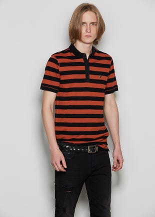 Striped 3-Button Polo