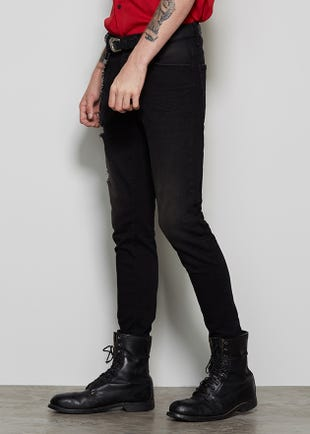 Tapered Black Jeans