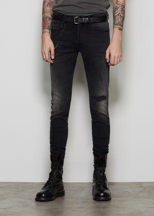 Distressed Black Jeans