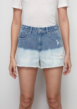 Dip Dye Denim Shorts