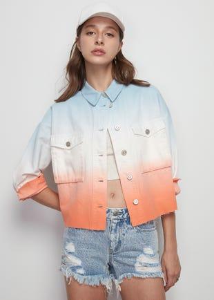 Dip Dye Denim Jacket