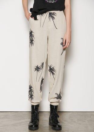 Palm Tree Linen Trousers