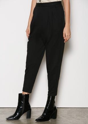 Tapered Crop Trousers