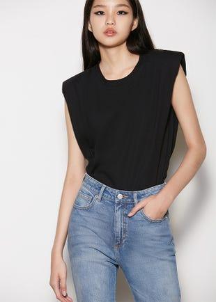 Padded Shoulder T-Shirt