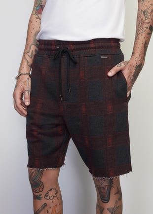 Flannel Drawstring Shorts