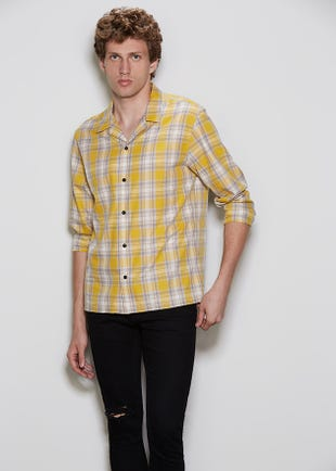 Checked Resort Collar Shirt