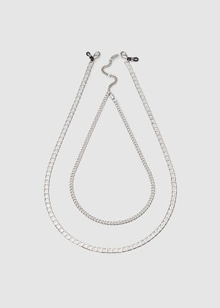 Double Chain Necklace-Silver