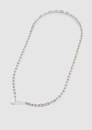 Silver Link Chain Necklace-Silver